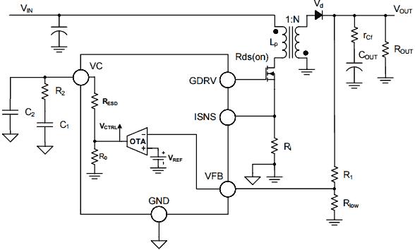 Однотактный обратноходовый преобразователь напряжения на микросхеме NCV898031