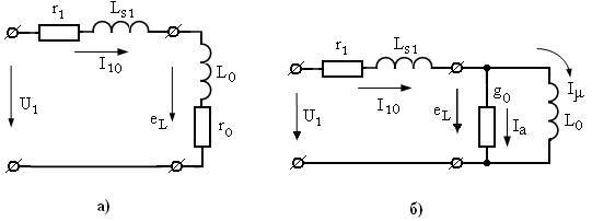 Схема замещения трансформатора для режима холостого хода
