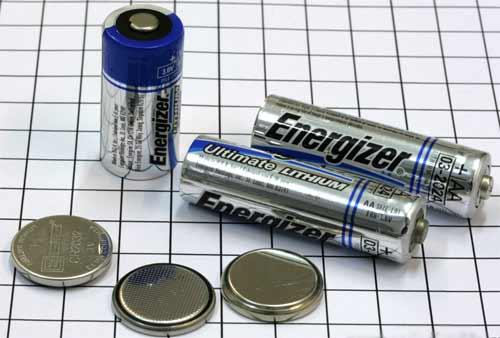 Внешний вид литиевых гальванических элементов