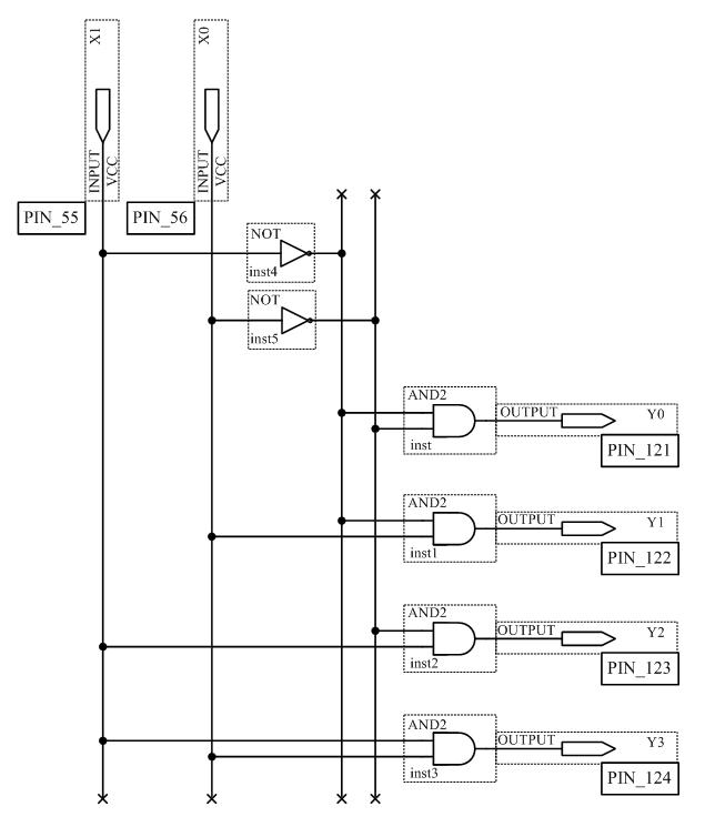 Схема дешифратора