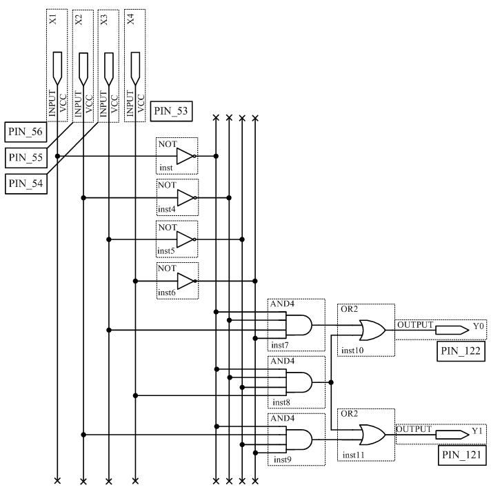 Принципиальная схема шифратора