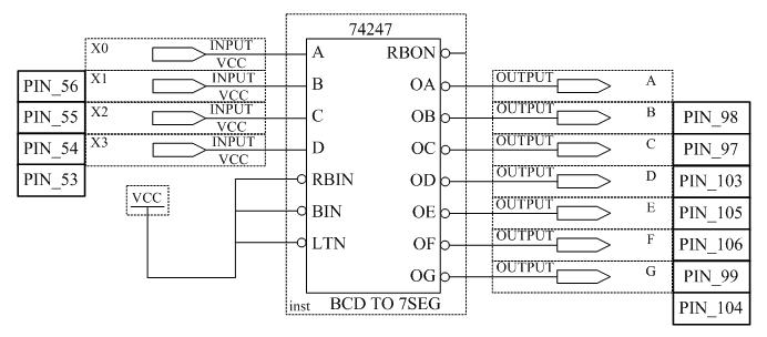 Схема семисегментного
