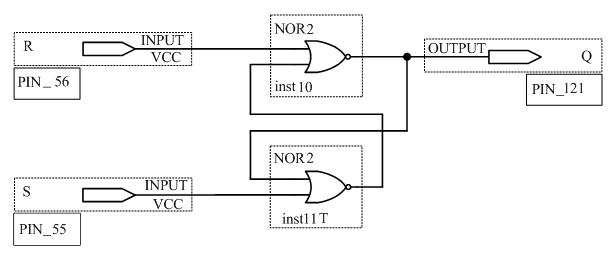 Схема RS-триггера в